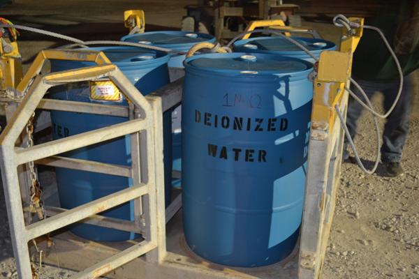 Deionized Water In Drums