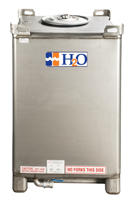 IBC Tank of Deionized DI Water H2O